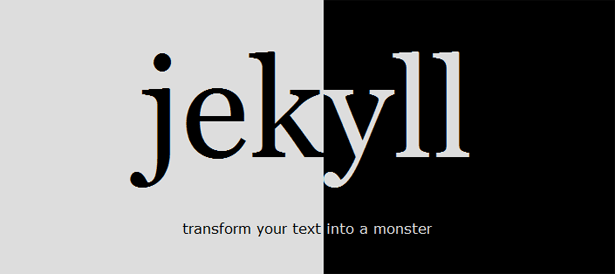 Jekyll, transform your text into a monster