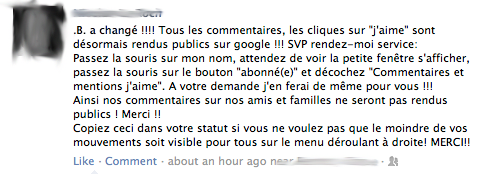 Chaîne Facebook