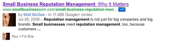 Votre photo de profil Google+ parmi les résultats de Google